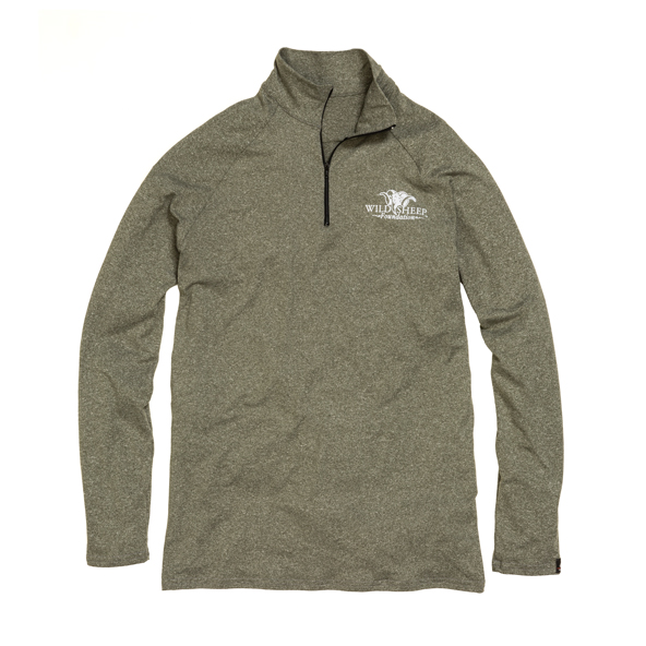 WSI Sports Mens Olive 1/4 Zip